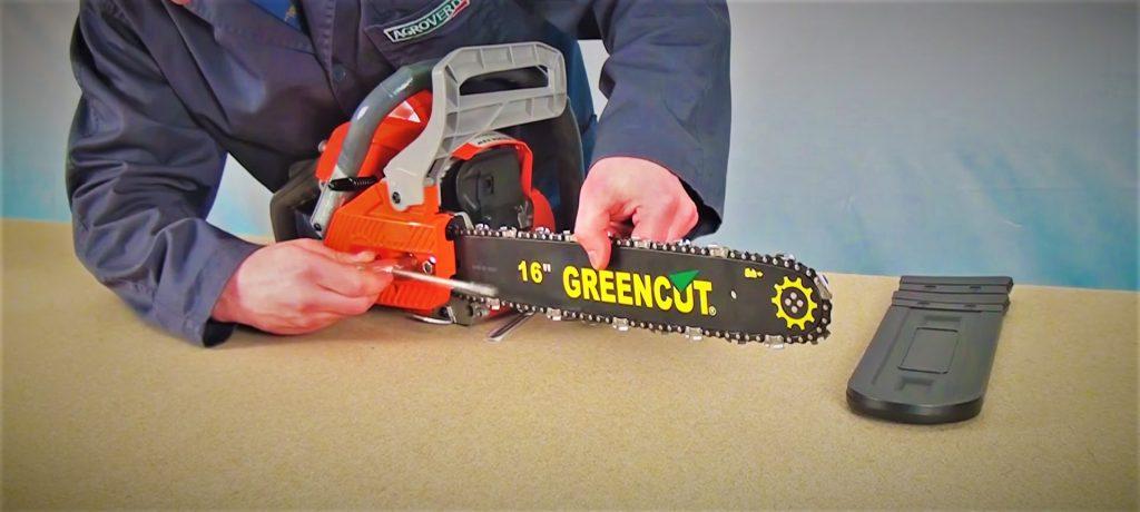 Guía arranque puesta en marcha encendido motosierra Greencut manual