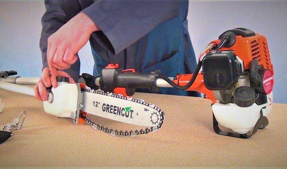 Puesta en marcha guía de encendido podadora de altura motosierra telescópica