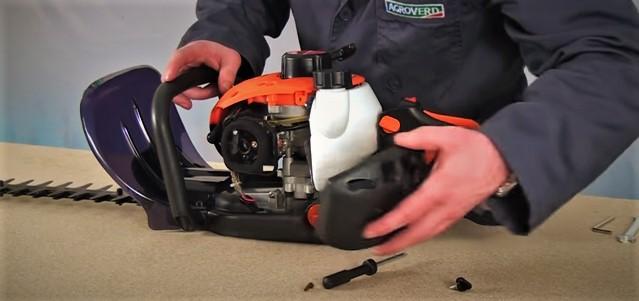 Mantenimiento reparación limpieza cortasetos Greencut como cambiar limpiar filtro de aire cortasetos