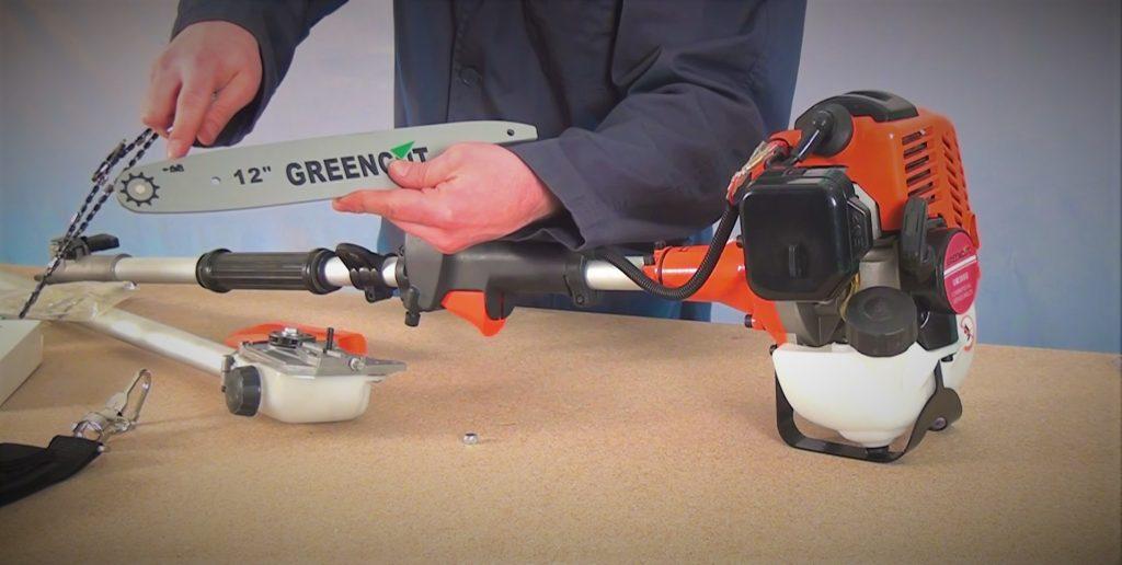 Guía puesta en marcha podadoras de altura instalar sierra motosierra