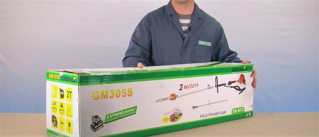 Guía puesta en marcha podadores de altura comprobación paquete caja