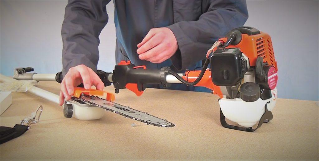 Guía puesta en marcha podadores de altura tapa espada