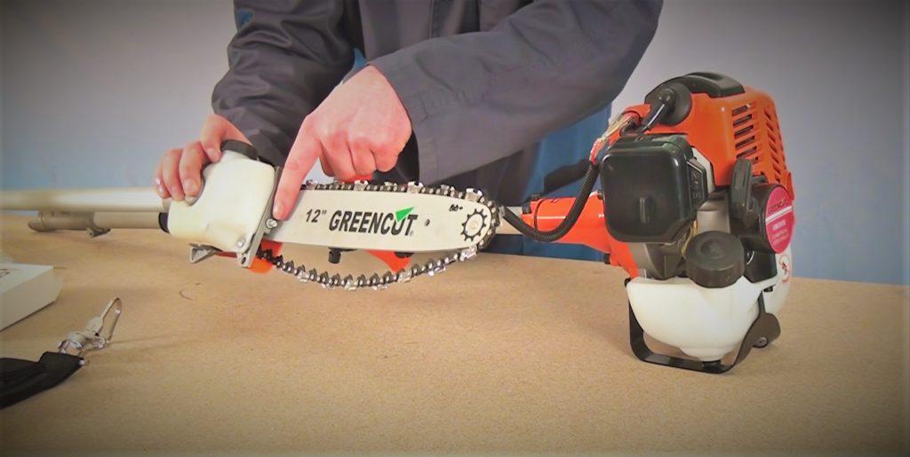 Guía puesta en marcha podadores de altura como tensar cadena espada sierra