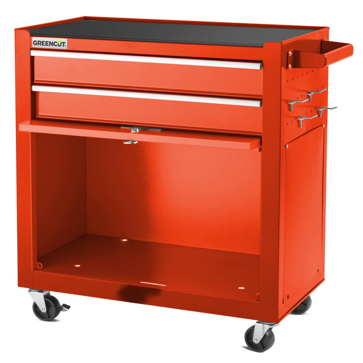 miniatura 19 - Carro para herramientas PRO armario acero 4 ruedas 10 cajones GREENCUT