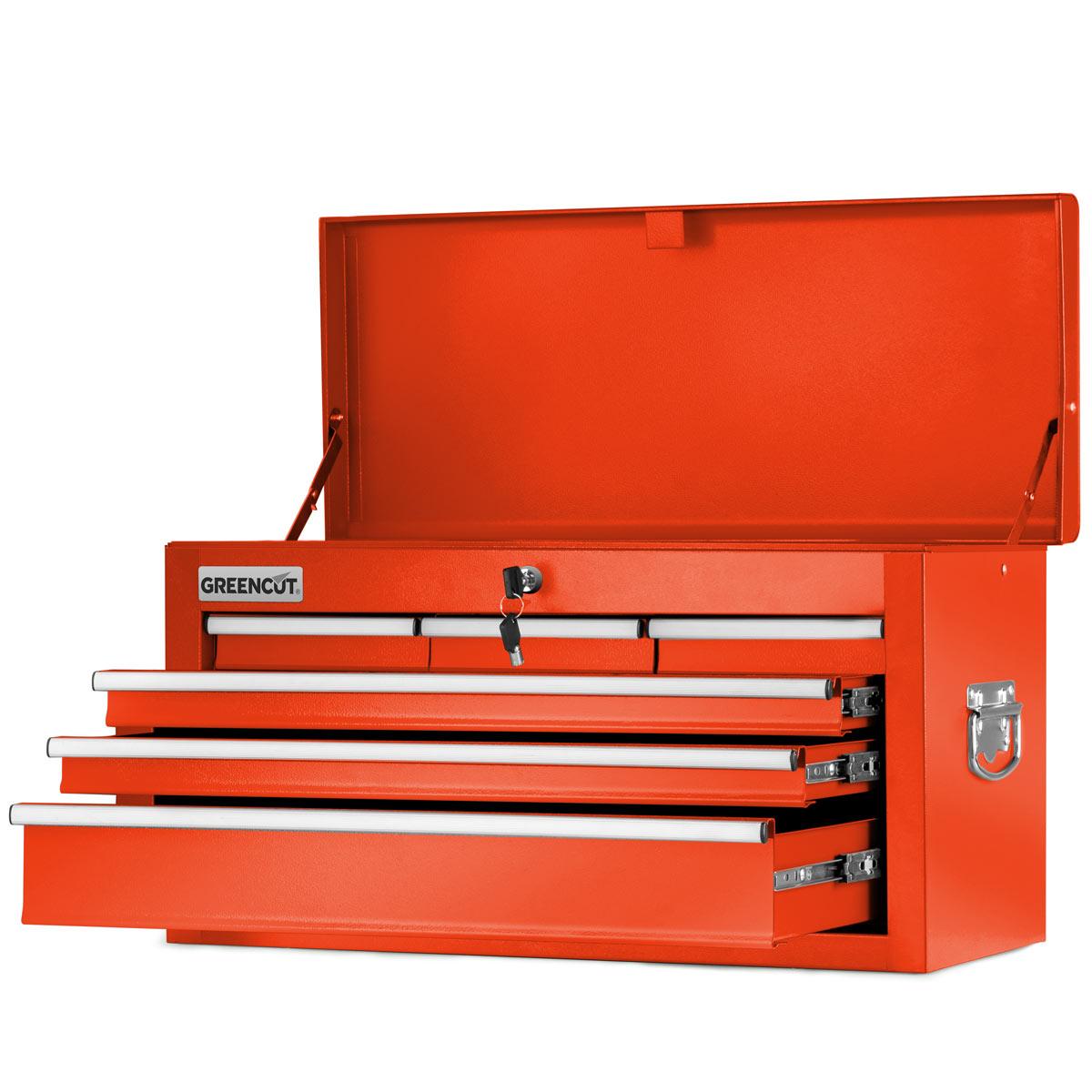 miniatura 21 - Carro para herramientas PRO armario acero 4 ruedas 10 cajones GREENCUT