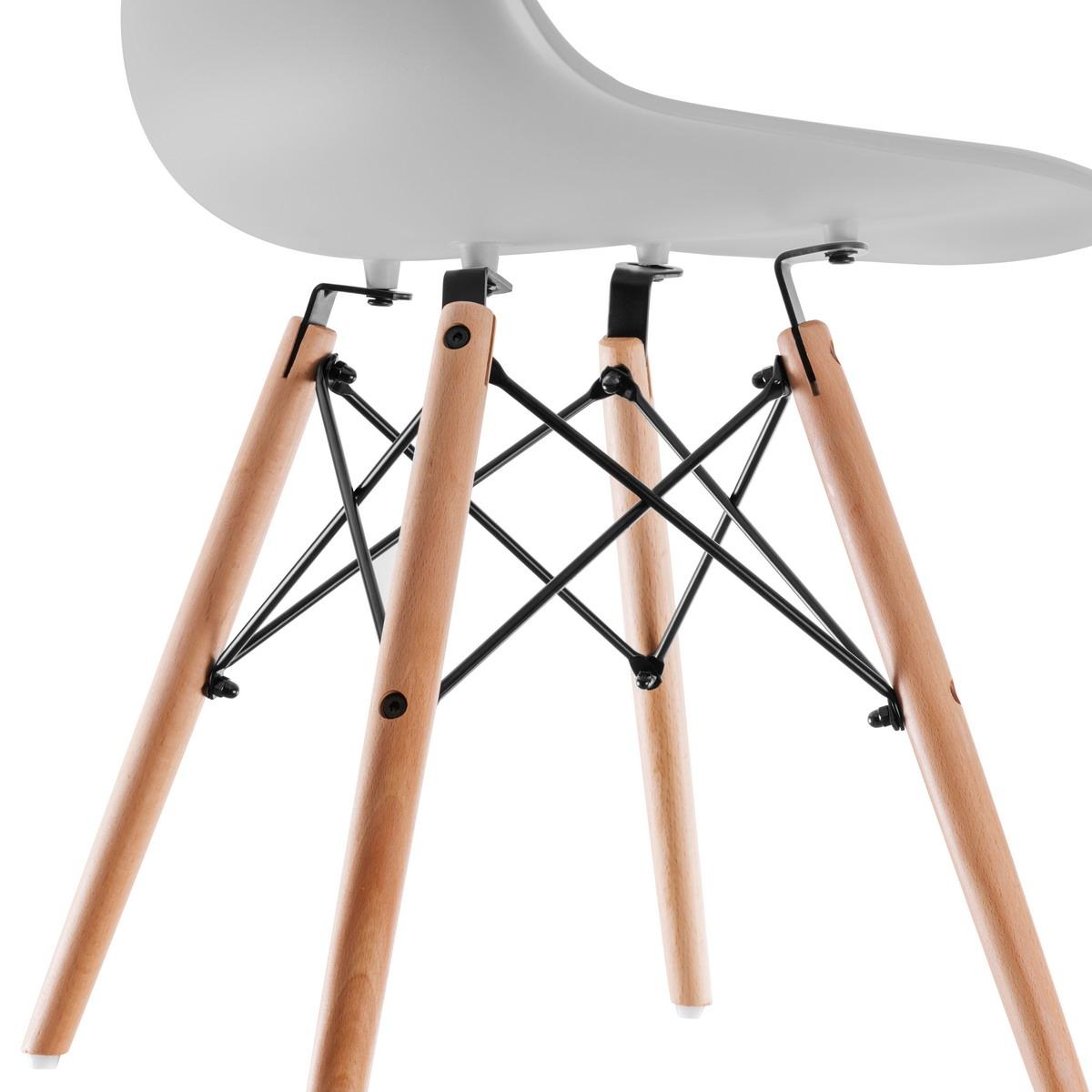 miniatura 21 - Pack 2 Sillas comedor Gris Blanco Mostaza Negro de diseño nordico – Mc Haus