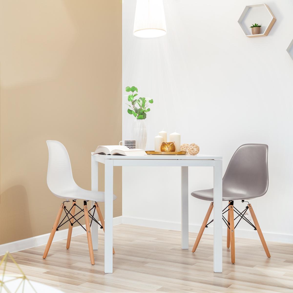 miniatura 14 - Pack 2 Sillas comedor Gris Blanco Mostaza Negro de diseño nordico – Mc Haus