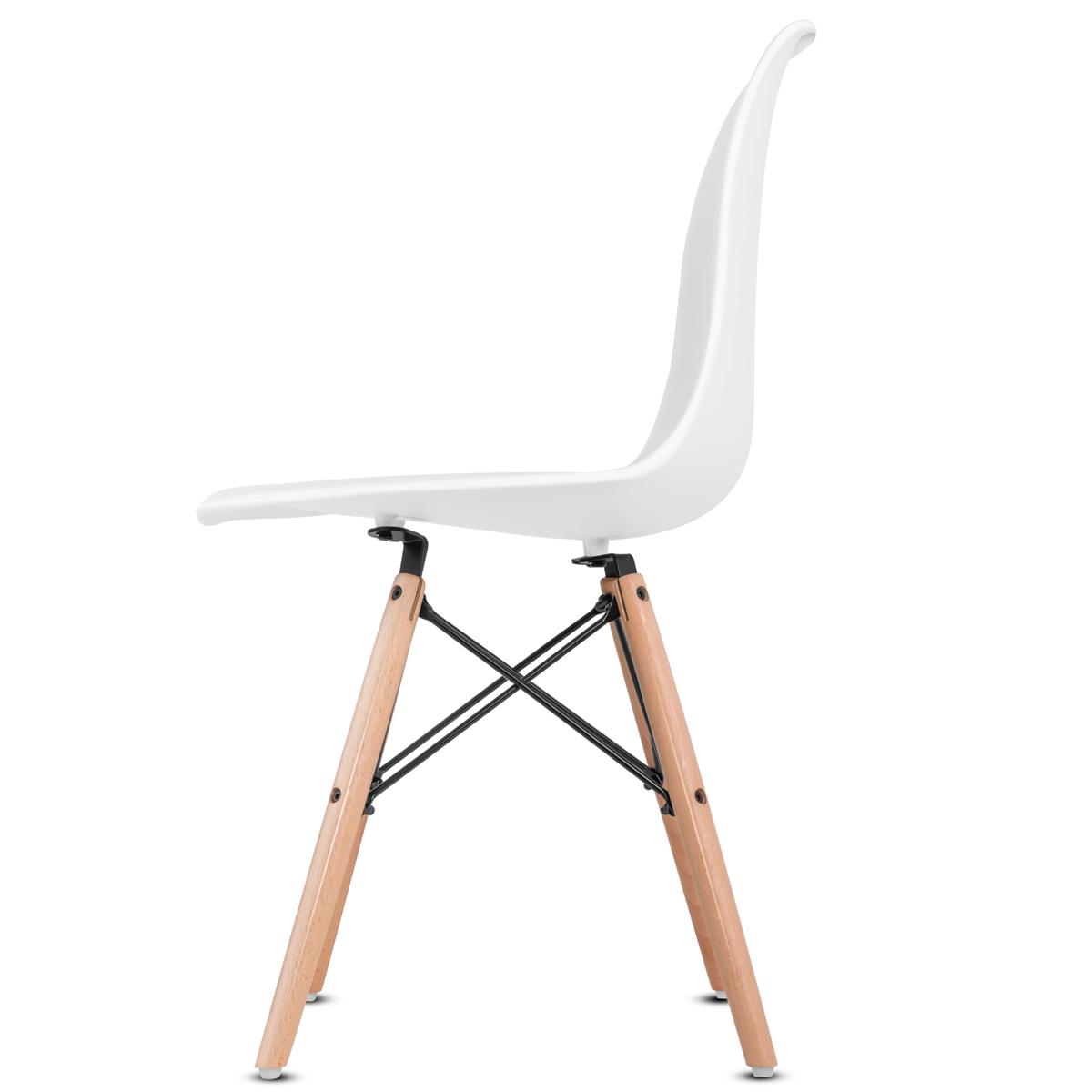 miniatura 5 - Pack 2 Sillas comedor Gris Blanco Mostaza Negro de diseño nordico – Mc Haus